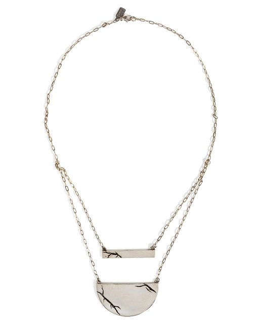 Pamela Love | Metallic Sterling Silver Chasm Necklace | Lyst