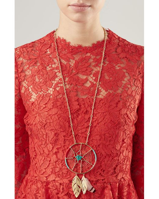 Aurelie Bidermann | Metallic Dreamcatcher Gold-plated Pendant Necklace | Lyst