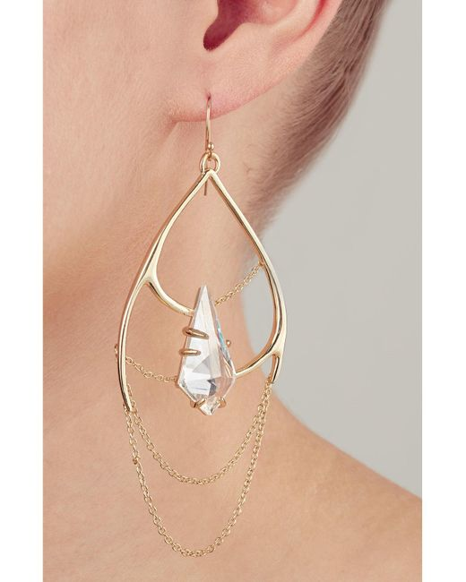 Alexis Bittar | Metallic Kinetic Draping Gold-plated Chain Earrings | Lyst
