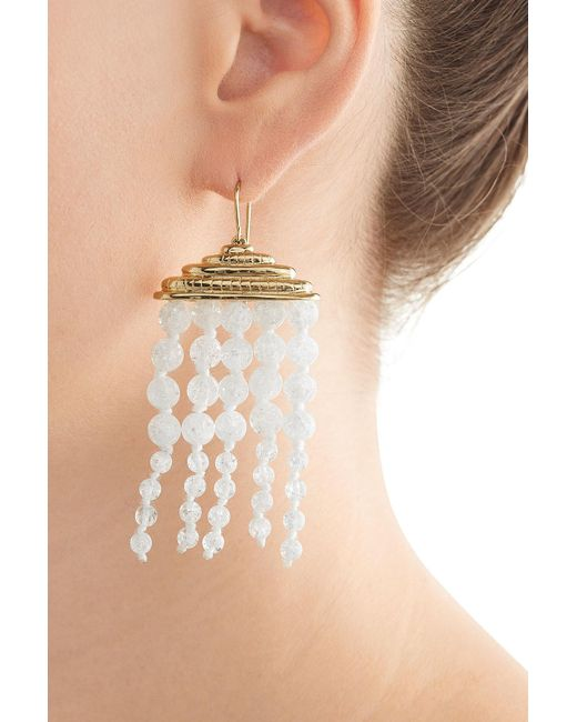 Aurelie Bidermann | Metallic Crystal Chandelier Earrings | Lyst