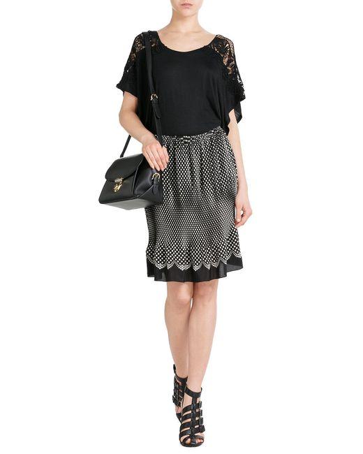 Anna Sui | Black Polka Dot Silk Skirt | Lyst