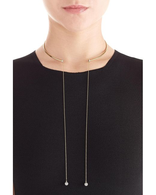 Delfina Delettrez | Metallic 18kt Gold Necklace With White Diamonds | Lyst