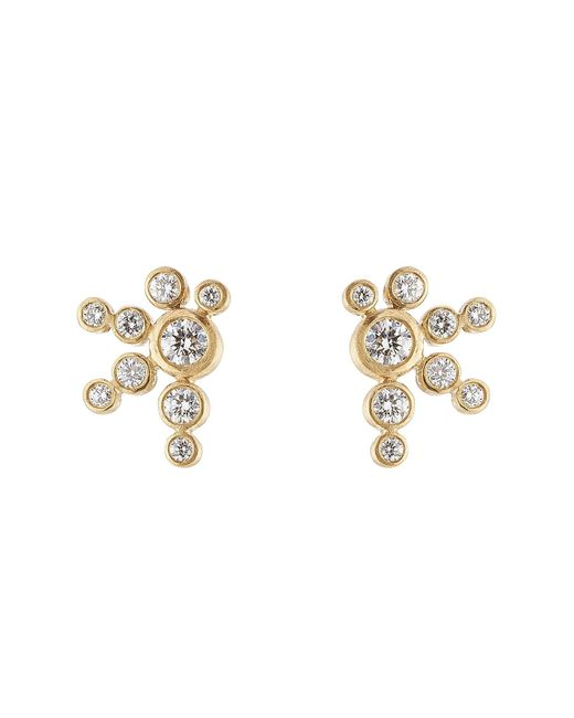 Sophie Bille Brahe | Metallic Flacon De Neige 18k Gold Earrings With Diamonds | Lyst