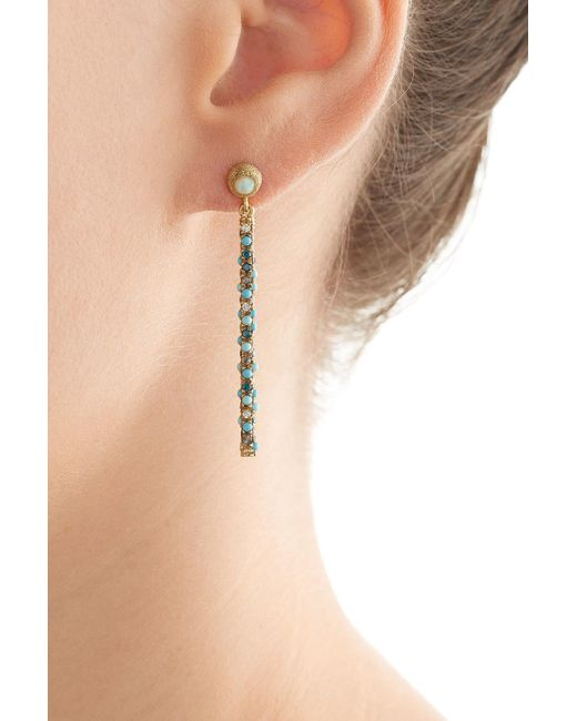 Carolina Bucci | Multicolor Magic Wand 18kt Earrings With Turquoise, Opal And Diamonds | Lyst