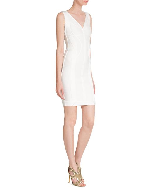 Hervé Léger   White Willow Origami Bandage Dress   Lyst
