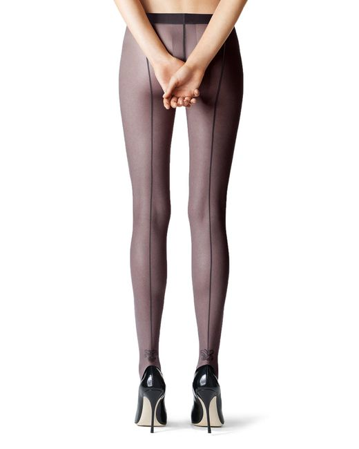 Fogal | Black Darla Tights With Seam | Lyst