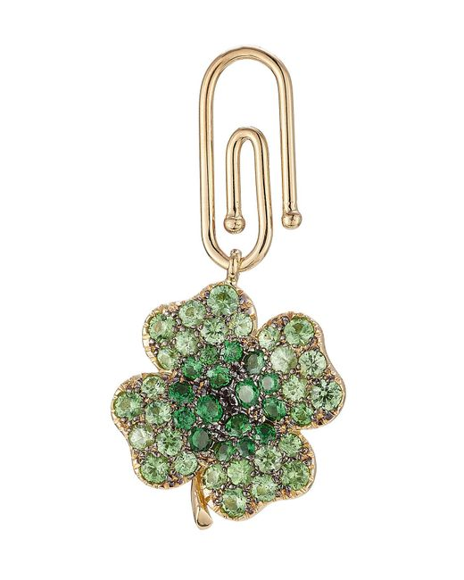 Aurelie Bidermann | Metallic 18kt Gold Clover Pendant With Tsavorites | Lyst