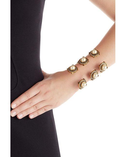 Alexander McQueen | Metallic Embellished Cuff Bracelet | Lyst