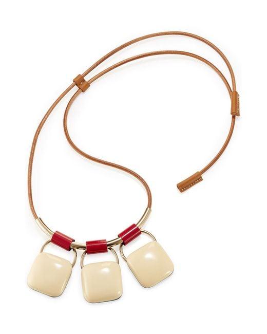 Marni | Multicolor Triple Pendant Necklace | Lyst