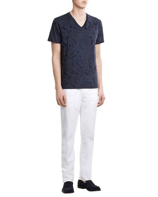 Etro   White Linen Trousers for Men   Lyst