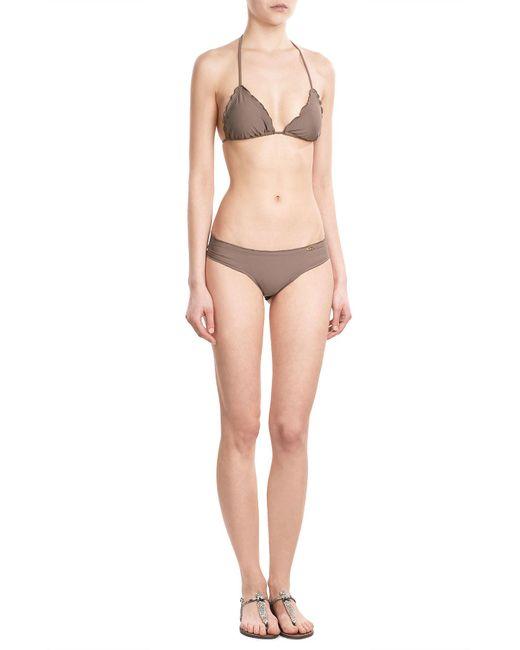 Luli Fama | Brown Cosita Buena Wavey Triangle Bikini Top | Lyst