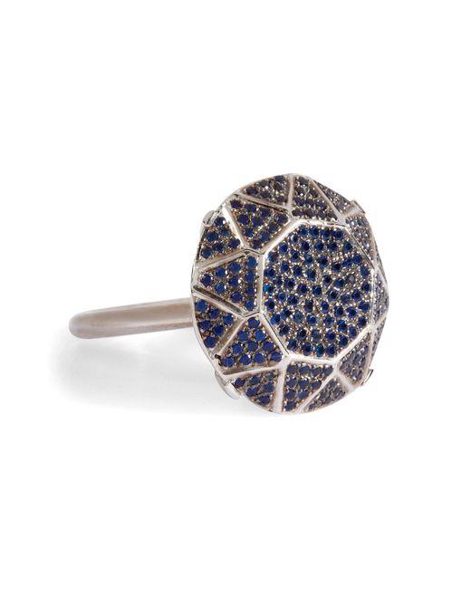 Ileana Makri - White Gold/sapphire Gem Single Solitaire Ring - Lyst