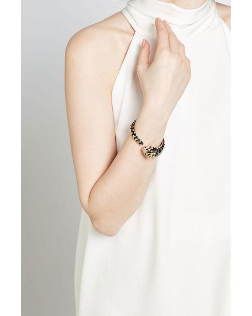 Roberto Cavalli   Metallic Embellished Bracelet   Lyst