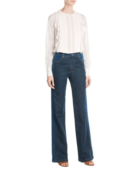 See By Chloé | Black Flared Jeans | Lyst
