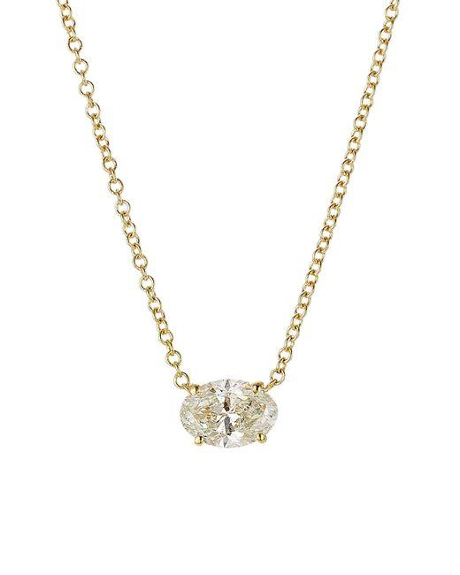Ileana Makri | Metallic Pear Cut Diamond Necklace In 18k Yellow Gold | Lyst