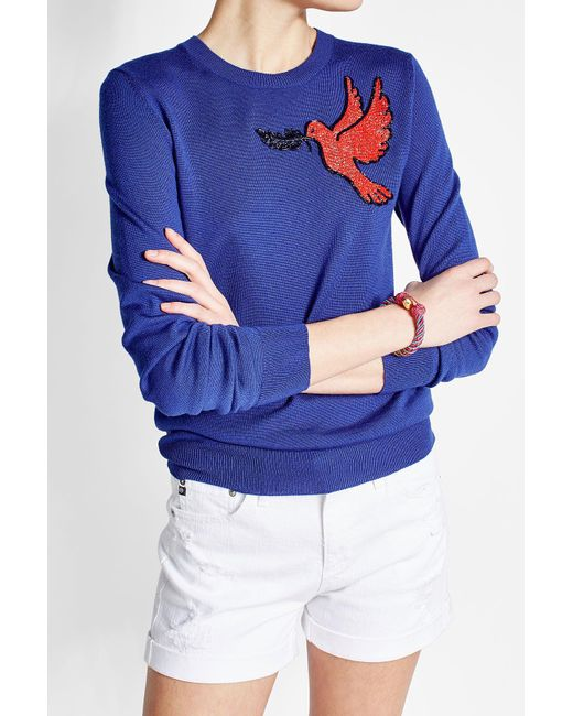 Aurelie Bidermann | Blue Bead Embellished Bracelet | Lyst