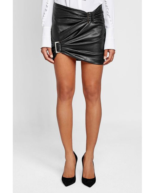 jitrois leather skirt in black lyst