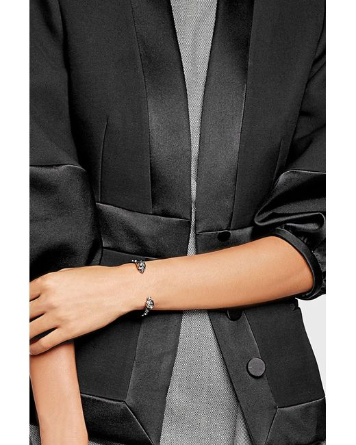 Alexander McQueen   Metallic Embellished Bangle   Lyst