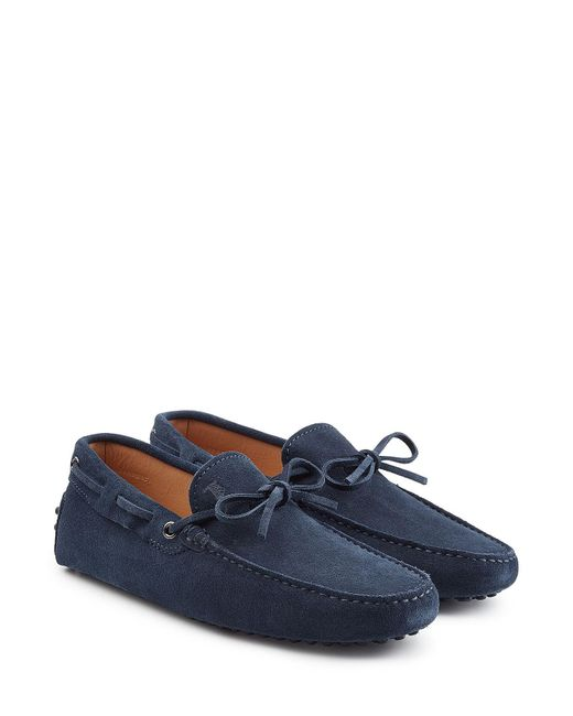 Tod's | Blue Suede Loafers for Men | Lyst
