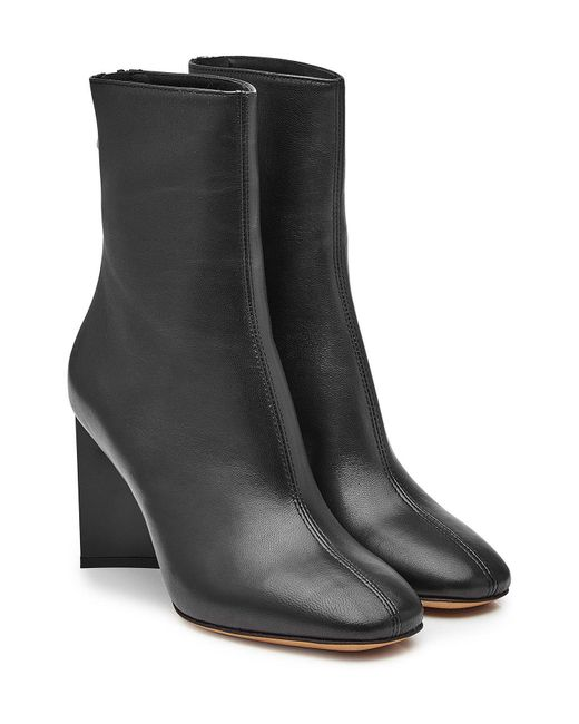 Maison Margiela - Black Leather Ankle Boots - Lyst