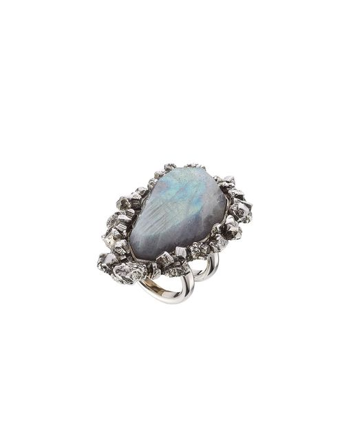 Alexander McQueen | Multicolor Ring With Pyrite | Lyst