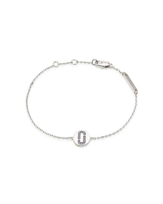 Marc Jacobs - Metallic Choker Necklace With Rhinestone Logo Pendant - Lyst