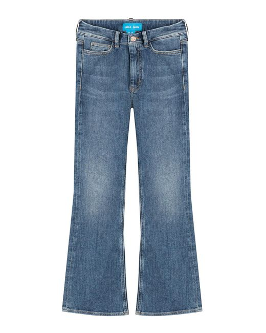 MiH Jeans - Blue Marty Cropped Flare Jeans - Lyst