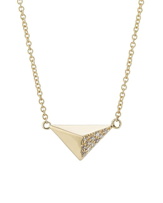 Ileana Makri - Metallic 18kt Yellow Gold Necklace With White Diamonds - Lyst