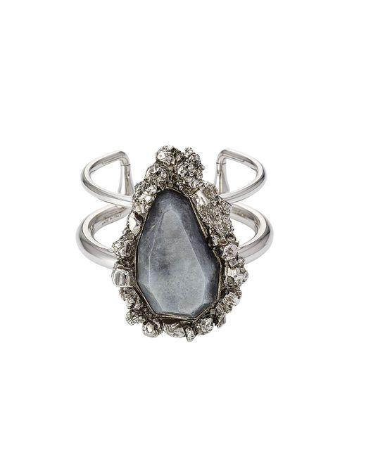 Alexander McQueen | Metallic Ring With Pyrite | Lyst