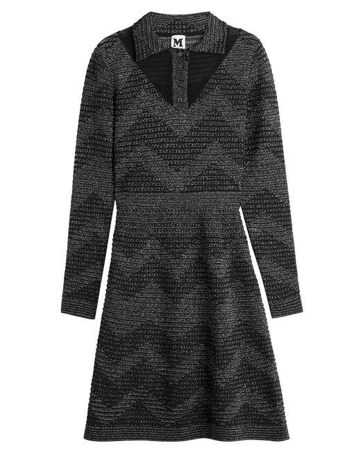 M Missoni - Black Metallic Knit Dress - Lyst