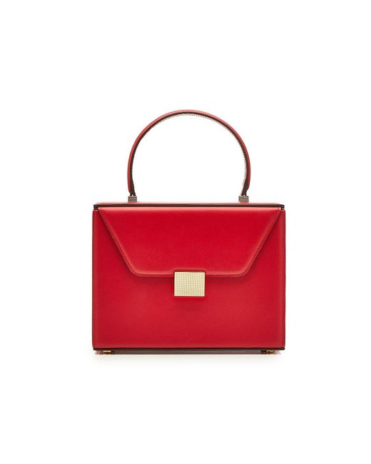 Victoria Beckham - Red Vanity Top Handle Leather Bag - Lyst