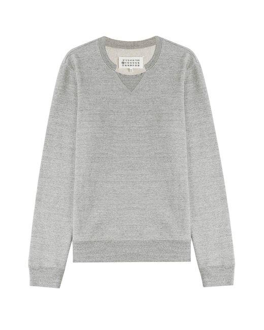 Maison Margiela | Gray Cotton Sweatshirt for Men | Lyst