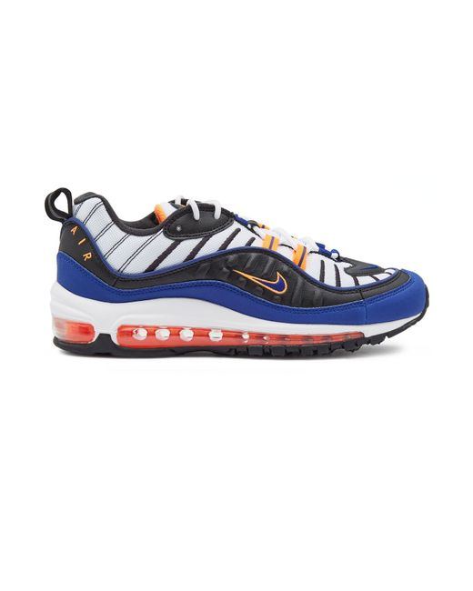 b664444b086 ... Nike - Blue Air Max 98 Sneakers With Leather for Men - Lyst ...