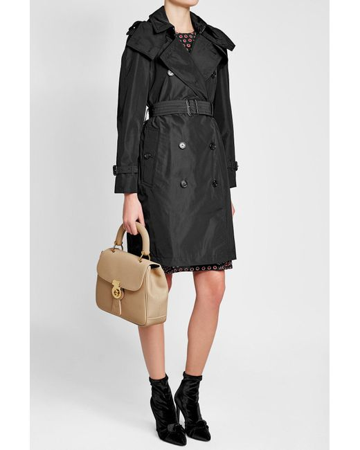 Burberry Amberford Short Trench Coat In Black