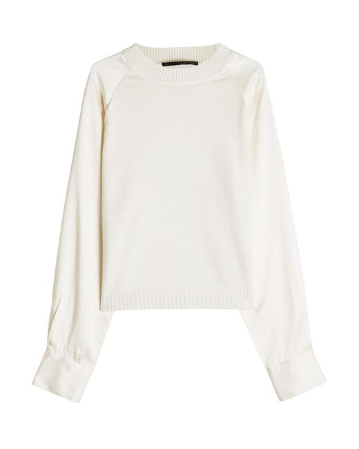 Haider Ackermann - Multicolor Knit Pullover With Satin Sleeves - Lyst