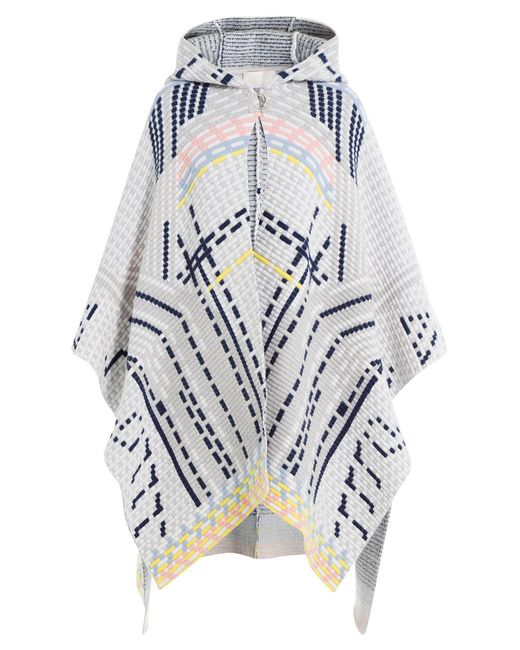 Peter Pilotto - White Wool Blend Cape With Angora - Lyst