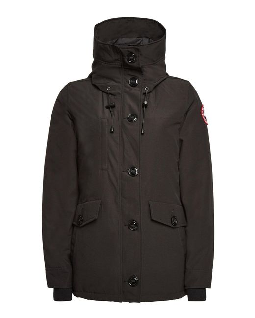 Canada Goose - Black Rideau Down Parka With Cotton - Lyst