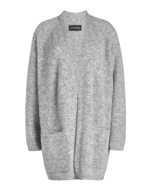 By Malene Birger - Gray Cardigan With Wool And Kid Mohair - Lyst