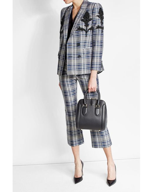 Alexander McQueen | Multicolor Embellished Virgin Wool Plaid Blazer | Lyst