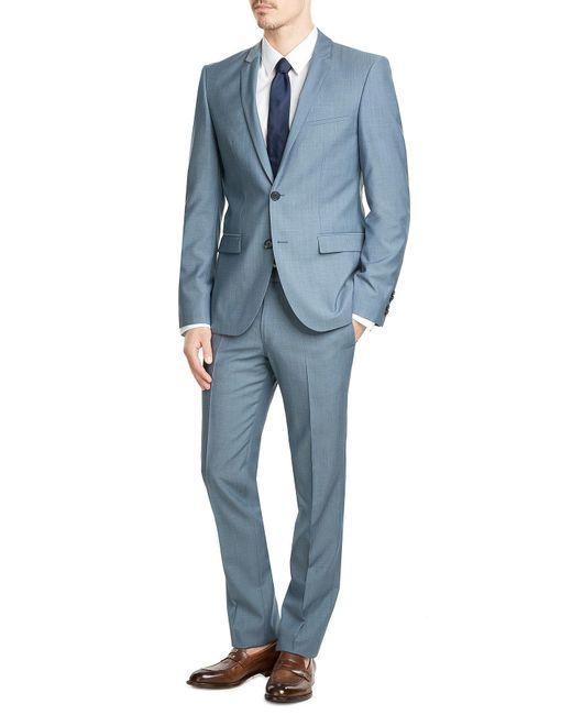 HUGO   Blue Woven Silk Tie for Men   Lyst