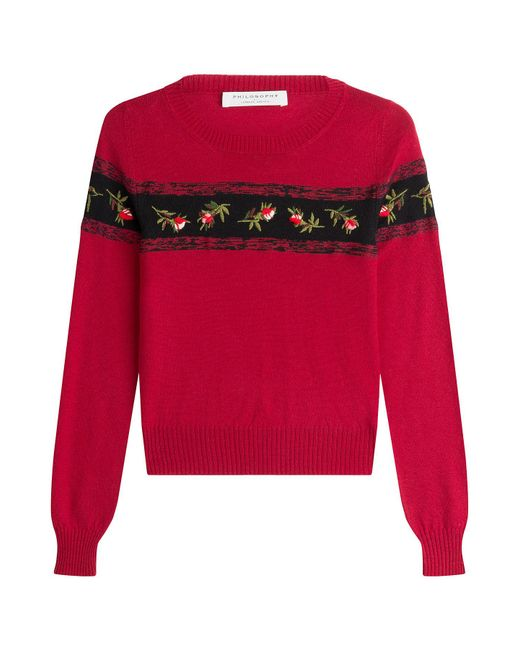 Philosophy Di Lorenzo Serafini - Multicolor Virgin Wool Pullover With Embroidery - Lyst