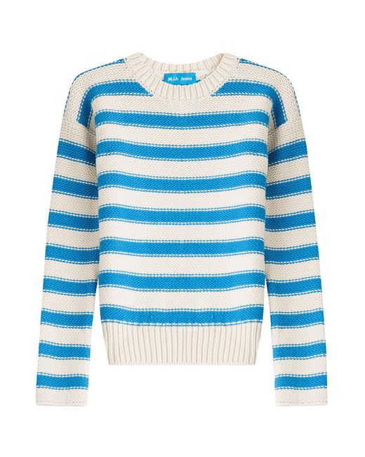 MiH Jeans - White Amorgos Striped Cotton Blend Pullover - Lyst