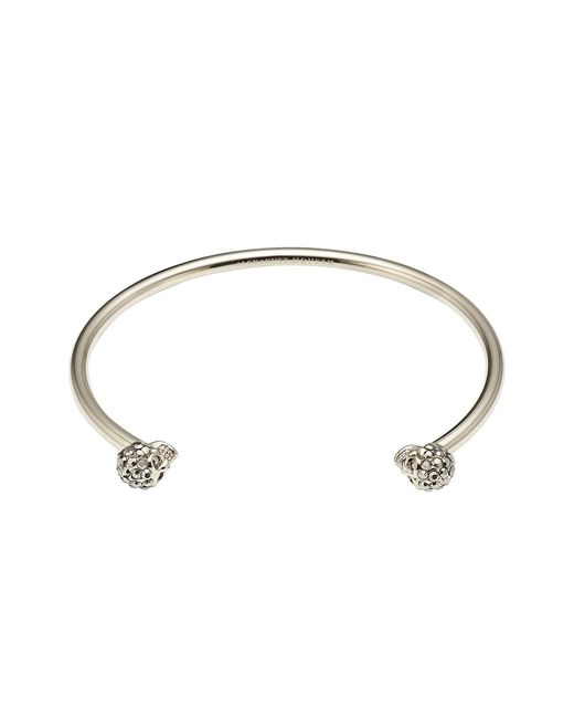 Alexander McQueen - Multicolor Skull Bangle Bracelet - Lyst