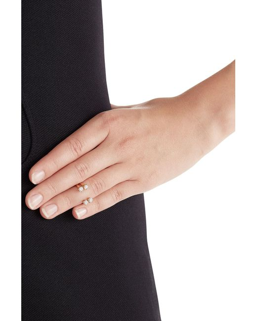 Delfina Delettrez | Metallic 18kt Pink Gold Ring With Diamonds | Lyst