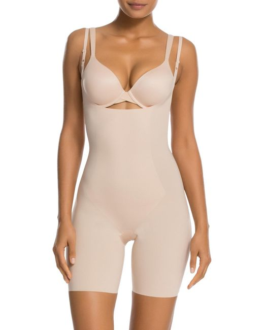 Spanx - Natural Thinstincts Targeted Open-bust Shapesuit - Lyst