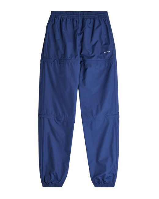 Balenciaga - Blue Zipped Track Pants for Men - Lyst