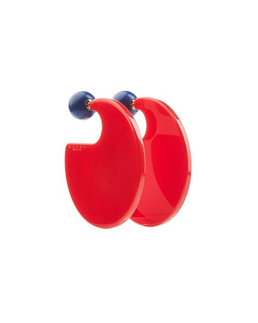 Marni - Red Resin Earrings - Lyst