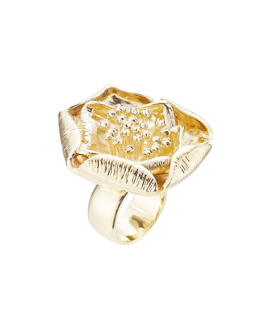 Aurelie Bidermann | Metallic 18kt Yellow Gold-plated Flower Ring | Lyst