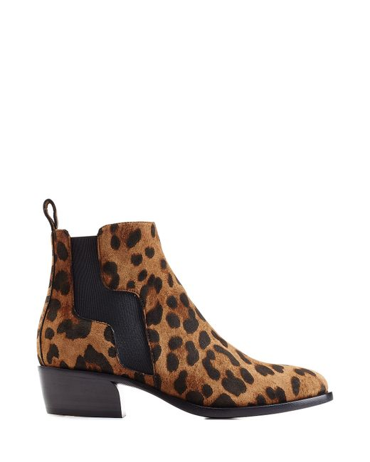 hardy animal printed suede ankle boots animal