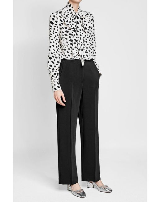 Marc Jacobs | Black Spot Tie Neck Blouse | Lyst
